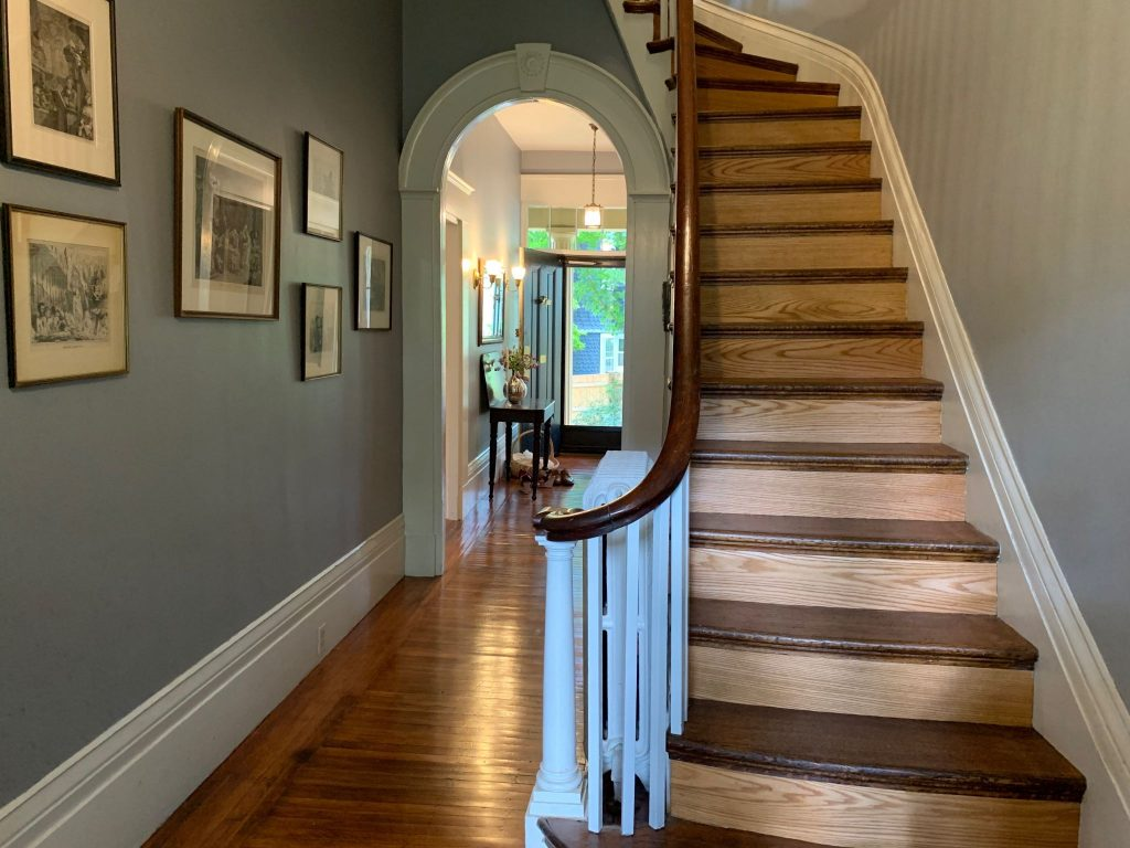 Beautiful archway and restored stairway